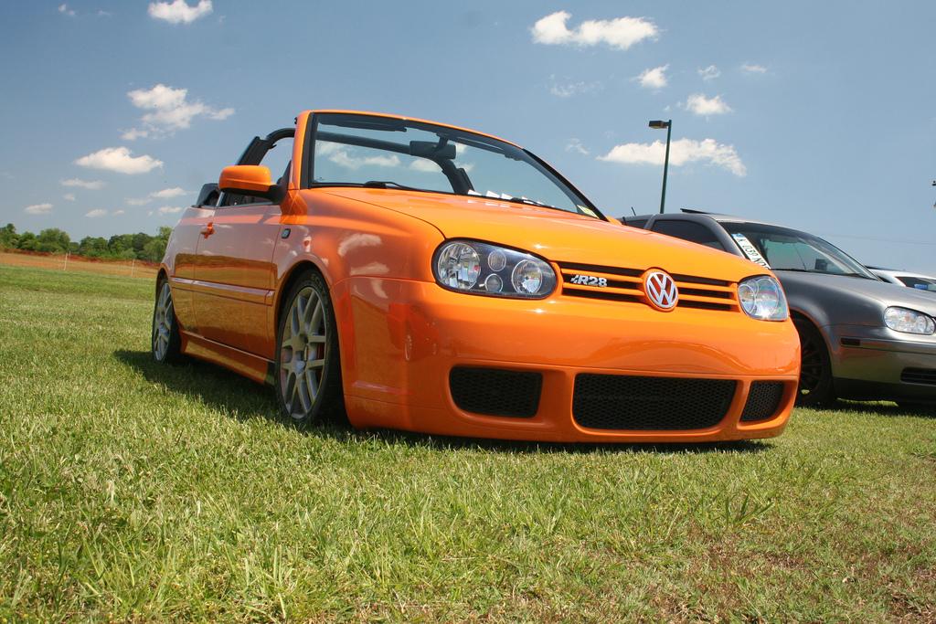 Orange Vw Golf Mk3 Cabrio Vw Golf Tuning