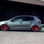 Silver VW Mk6 with Rotiform Nue wheels