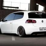 White Volkswagen Golf VI GTI