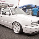 White VW Golf Mk3 on white 5 star wheels
