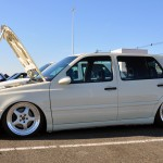 White Volkswagen Golf Mk3 on ABT rims