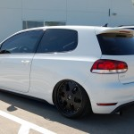 White VW Golf Mk6 GTI on black wheels