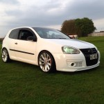 White Volkswagen Mk5 – Heather Robertson
