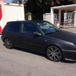 Matte black VW Golf Mk3 – Samer El Toro Gigante