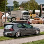 Grey VW Golf Mk5 on silver Bentley wheels