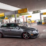 Metallic grey VW Golf Mk5