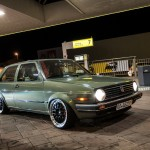 Volkswagen Golf Mk2 on silver-black BBS rims