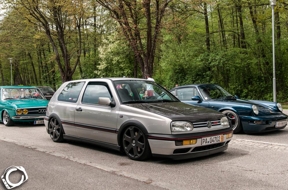 Silver Vw Mk3 With Black Hood Vw Golf Tuning