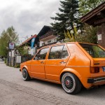 Orange VW Mk1 on black BBS wheels