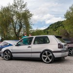 Silver VW Golf Mk3 with Audi rims