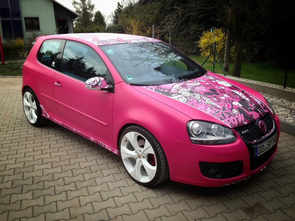 volkswagen golf mk5 gti pink lady by color shine vw golf tuning. Black Bedroom Furniture Sets. Home Design Ideas