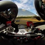 Video: Watch this motorcycle rider get hit in the head with another bike
