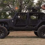 Video: What's better than a customized Jeep equipped with a 50 caliber gun?