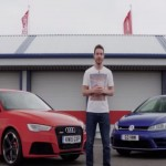 DEADLY RIVALS: Audi RS3 vs. Volkswagen Golf R (VIDEO)