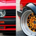 Fender flares for VW GOLF MK2