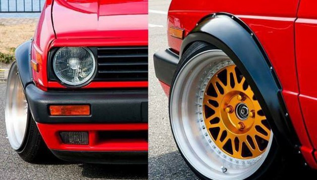 Fender flares for VW GOLF MK2 (1)